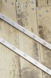 Vis en bois et en métal Photo libre de droits
