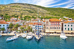 Vis island yachting waterfront view Royalty Free Stock Image