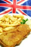 Vis met patat Royalty-vrije Stock Afbeelding