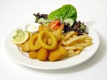 Vis met patat Stock Foto's