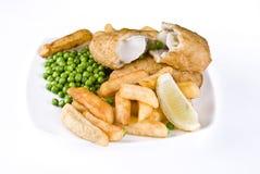 Vis met patat Stock Afbeelding