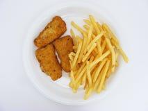 Vis met patat #2 Royalty-vrije Stock Afbeeldingen