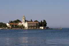 Vis miasta plaża Prirovo, wyspy Vis, Chorwacja Zdjęcie Royalty Free