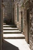 Vis narrow street, island vis in Croatia Stock Photography