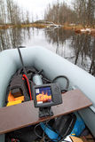 Vis-vindende dieptemeter Stock Foto's