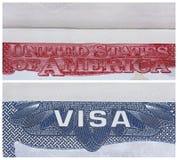 Visa americana de los E.E.U.U. Imagen de archivo libre de regalías