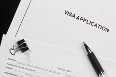 Visa Application royalty free stock image