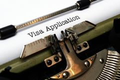 Visa application Stock Images