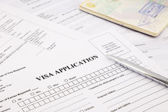 Visa application Royalty Free Stock Photos