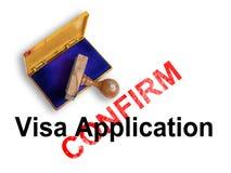 Visa Application Stock Photography