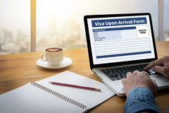 Visa Upon Arrival Form Stock Images