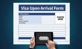 Visa Upon Arrival Form Royalty Free Stock Image