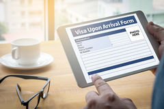 Visa Upon Arrival Form Royalty Free Stock Photo