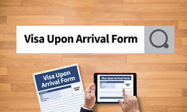 Visa Upon Arrival Form Royalty Free Stock Photography