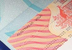 Visa australiana Imagen de archivo libre de regalías