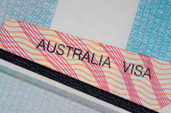 Visa australiana Foto de archivo libre de regalías