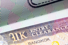 Visa BRITANNIQUE du Royaume-Uni dans le passeport Photos libres de droits