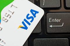 VISA card Stock Image