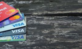 Visa card and Master card royalty free stock photo