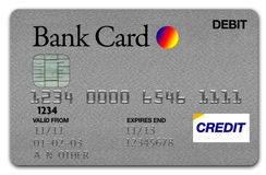 Visa Card Silver Royalty Free Stock Images