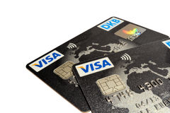 Visa cards Royalty Free Stock Photos