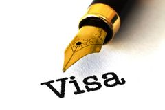 VIsa concept Royalty Free Stock Photos