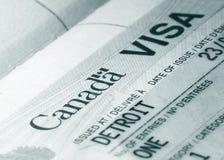 Visa de Canadá foto de archivo libre de regalías