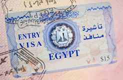 visa de l'Egypte Image libre de droits