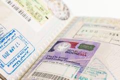 Visa de l'Indonésie image libre de droits