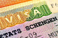 Visa de Schengen Photographie stock libre de droits