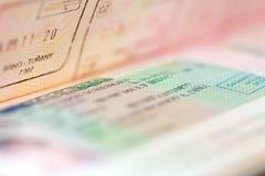 Visa de Schengen fotografía de archivo