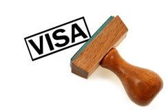 Visa del sello de goma en cierre para arriba stock de ilustración