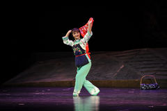 Visa den blommahalsdukJiangxi operan en besman Royaltyfri Fotografi