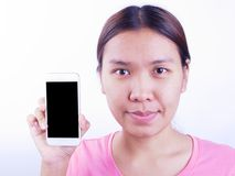 Visa den smarta telefonen Arkivbilder