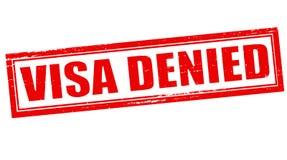 Visa denied. Stamp with text visa denied inside,  illustration Royalty Free Stock Image