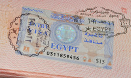 Visa a Egipto imagen de archivo