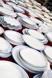 visa för dinnerware royaltyfria bilder