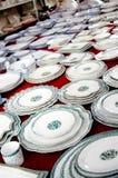 visa för dishware royaltyfria bilder