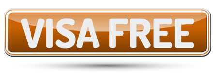 VISA FREE - Abstract beautiful button with text. VISA FREE - Abstract beautiful button with text Royalty Free Stock Photos