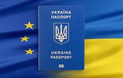 Visa-free regime between Ukraine and the European Union - concept. Royalty Free Stock Photo