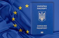 Visa-free regime between Ukraine and the European Union - concept. Stock Images