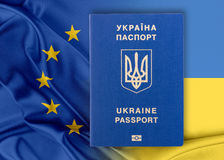 Visa-free regime between Ukraine and the European Union - concept. Stock Photography