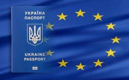 Visa-free regime between Ukraine and the European Union - concept. Royalty Free Stock Photos