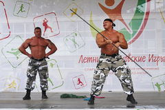 Visa gruppen den idrotts- Petersburgen Royaltyfria Bilder