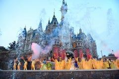 Visa i Shanghai Disneyland Arkivbild