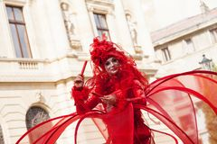 Visa inre B-FIT i gatan Bucharest 2014 Royaltyfri Foto