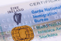 Visa irlandais/GNIB Photo stock