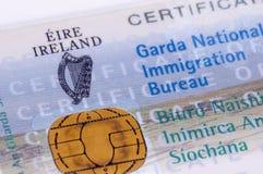Visa irlandesa/GNIB Foto de archivo
