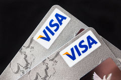 Visa-Karten Stockfotos