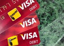 Visa-Karten Stockfoto